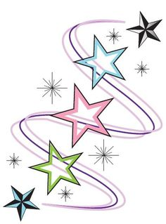 Heather's Tattoo Designs A friend asked me to create a tattoo for her, with each star representing her family member. This is the one she selected… Tattoos Motive, Star Tattoos, Love Tattoos, Body Art Tattoos, Tattoo Drawings, I Tattoo, Celtic Tattoos, Belly Tattoos, Wing Tattoos