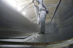 Men at work! KCN protection coating.
