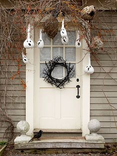 Gourd Ghosts Stylish Halloween Door Decor