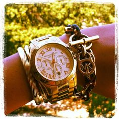 Michael Kors White + Gold
