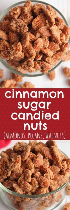 Easy Homemade Cinnamon Sugar Candied Nuts (Almonds, Pecans, Walnuts)