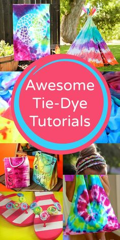 Get ready for summer with these fun tie-dye tutorials. Make clothing, accessories, decorations and more with these awesome ideas!