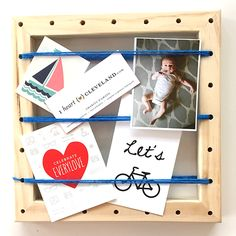 Office Memo Board Idea // String Art Board by iheartcleveland.com using the We Made It by Jennifer Garner Kids Craft Kit!