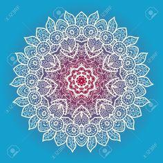 Mandala oriental. Fondo azul.
