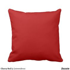 Cherry Red Pillow