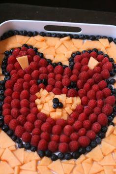 Teddy bear fruit salad for a teddy bear's picnic!