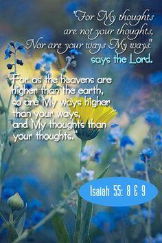 Isaiah 55: 8&9