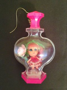 1967-1968 LIDDLE KIDDLES-ROSEBUD KOLOGNE KIDDLES doll w/ original stand No. 2 #Dolls