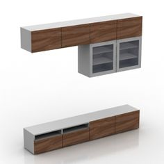 TV stand wall 2 IKEA BESTO - model for interior visualization. Tv Rack, 3d Visualization, Lockers, Beds, Ikea, Objects, Interior, Wall, Model