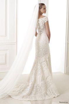 Atelier Pronovias 2015 #bridal collection preview: Kaira guipure lace #wedding dress with off shoulder sleeves #weddinggown #weddingdress