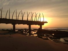Watch the sunrise or sunset at the Umhlanga Pier