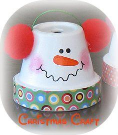 great for Thanksgiving Day craft time!christmas Craft  clay pot