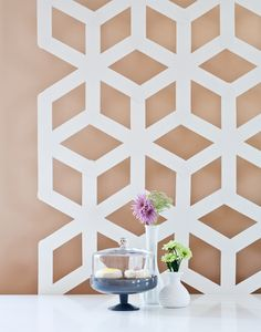 DIY Modern geometric backdrop. Great to fill on walls for simple decoration