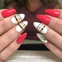 110+ Simple Scotch Tape Nail Designs 2018