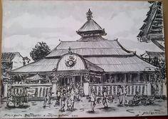 Lukisan Masjid Agung Jogja, oil on canvas, 70 x 50 cm