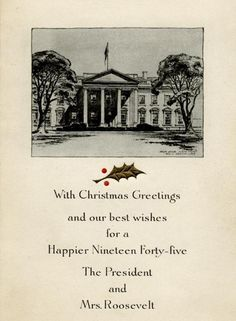 white house christmas card 1945 the roosevelts selection