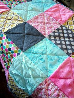 Love this easy quilt idea for fabrics that speak for themselves.