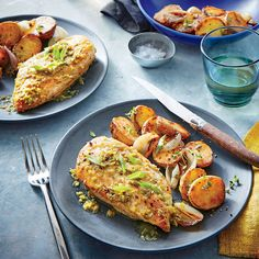 Seared Chicken Breasts with Green Piri Piri Sauce - Quick and Easy Chicken and Turkey Recipes for Dinner Tonight - Cooking Light