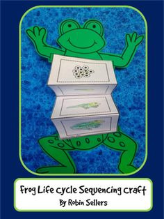 frog life cycle activity for kids with life cycle sequencing cards Science interactive notebook Kindergarten Science, Science Lessons, Teaching Science, Science For Kids, Science Activities, Activities For Kids, Sequencing Activities, Art Lessons, Science Centers