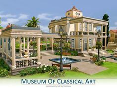 The Sims Resource: Museum Of Classical Art by Lhonna • Sims 4 Downloads