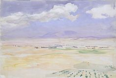 John Singer Sargent (1856-1925), From Ávila, c. 1903. Watercolor and gouache on white wove paper.