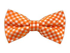 Checked Out - Orange (Bow Ties)