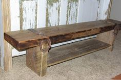 Rustic Reclaimed Wood Furniture and Home Decor using barn wood and wine barrels.