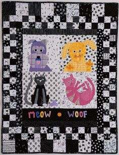 """""""Meow and Woof"""" by Becky Goldsmith and Linda Jenkins, Piece O' Cake Designs"""