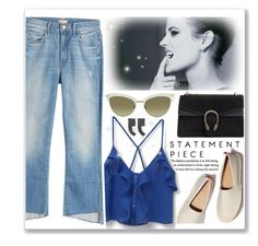 """Eva Green - Blue Jeans"" by cherry95 ❤ liked on Polyvore featuring MANGO, Gucci and Mother"