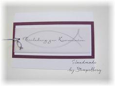Einladung zur Kommunion/Konfirmation von - Stempelberg - Schöne Sachen aus Papier - auf DaWanda.com