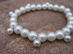 Handmade Jewelry//Bracelet Wedding//Pearl by MakeMeSmileJewelry, $25.00