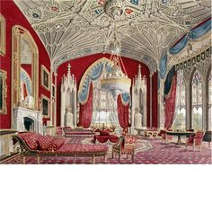 The Drawing Room at Eaton Hall, where is the country house of the Duke of Westminster. It is set within a large estate 1 mile south of the village of Eccleston, in Cheshire, England. The house is surrounded by formal gardens, parkland, farmland and woodland. The estate covers an area of about 10,872 acres.
