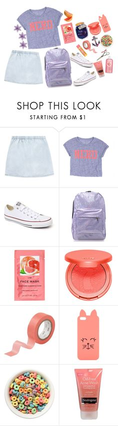 """""""Untitled #528"""" by elizabethsunday ❤ liked on Polyvore featuring dELiA*s, Converse, Chicnova Fashion, H&M, tarte, CB2, H! by Henry Holland and Burt's Bees"""