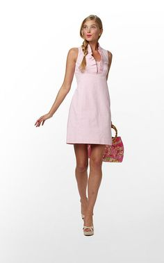 Adeline Dress in Hotty Pink Lucky Seersucker (#9 - w/o 3/18/12) $198