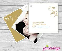 """Hochzeitskarte """"Ornament"""" in verschiedenen Farben auf www.gluecksdinge.de #hochzeitskarte #hochzeit #karte #glueck #partner #liebe #partnerschaft"""
