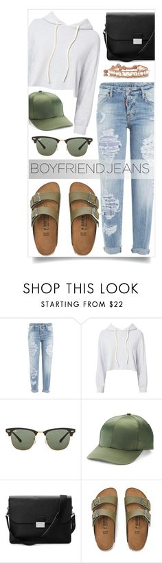 """""""170705"""" by aase ❤ liked on Polyvore featuring Dsquared2, Monrow, Ray-Ban, Mudd, Aspinal of London, Chan Luu and boyfriendjeans"""