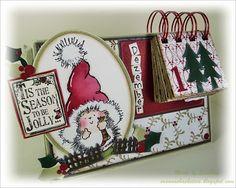 Stempeleinmaleins: Adventskalenderkarte - advent calendar card
