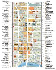 Map of shops Magnificent Mile