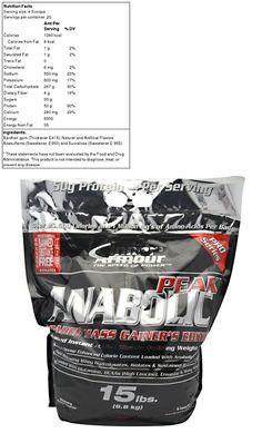 Inner Armour Anabolic Peak Gainer Vanilla 15 Lbs 6 8 Kg Weight Gainer Anabolic Cholesterol