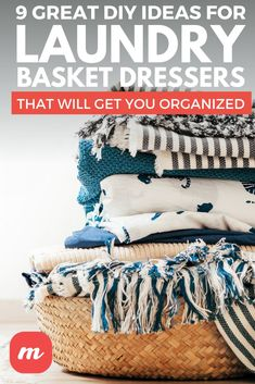 We've tried a few different baskets out ourselves, and though we're currently going with an IKEA hack set up, we think these DIY projects are also worthy of your handiwork. #DIY #plans #laundrybasket Laundry Basket Dresser, Dresser Ideas, Diy Home Crafts, Ikea Hack, More Fun, Laundry Room, Imagination, Baskets, Diy Projects
