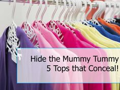 Hide your Mummy Tummy: 5 Tops that Conceal  - mom. For more information on how to look good after pregnancy go to auraimgeconsulting.com