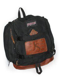 2a7fb697ef1d Vintage Backpack Jansport rucksack LARGE Pack bag Made in USA Camping Day  Hiking Leather Bag