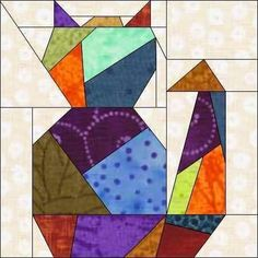 If you enjoy patchwork and paper piecing, you will love Crazy Quilting, Patchwork Quilting, Crazy Quilt Blocks, Paper Pieced Quilt Patterns, Quilt Block Patterns, Patch Quilt, Quilting Projects, Quilting Designs, Animal Quilts