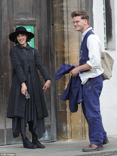 Co-stars: War Horse actor Jeremy Irvine was also in character as the pair filmed scenes outside Stoke Newington Library