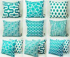 Teal & pattern