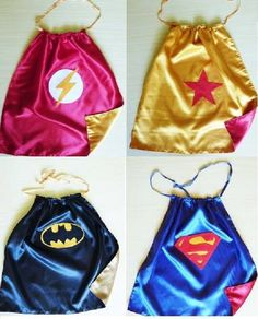 Girl Superhero Party, Superhero Capes, Batman Party, Diy Costumes, Halloween Costumes, Fancy Dress, Dress Up, Wonder Woman Party, Baby Couture