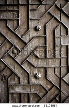 old aged wooden door with iron handcraft deco work spain church by holbox, via Shutterstock The Magic Flute, Old Age, Stock Image, Iron Age, Wood Background, Garden Gates, Middle Earth, Wooden Doors, Metal Working