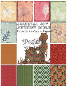 Autumn Bliss Printable Art Journal  12 pages 1188 by JustBYourself, $4.00; limited commercial use okay.