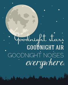 Goodnight print only $2.50