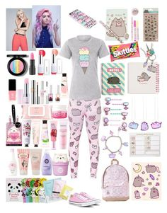 """Untitled #31"" by samsung-smt on Polyvore featuring Pusheen, Converse, too cool for school, Laneige, JINsoon, Lirikos, Innisfree, Oh K!, IPKN and Mamonde"